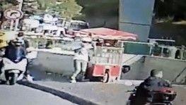 Şişli'de metro girişinde silahlı saldırı kamerada