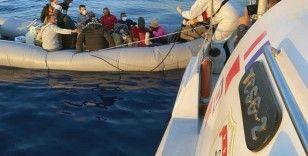 Marmaris'te 27 göçmen kurtarıldı