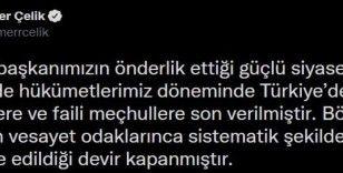 """AK Parti Sözcüsü Çelik: """"Siyasi cinayet spekülasyonları ilkesiz ve utanç verici bir sorumsuzluktur"""""""