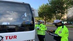 Kayseri'de okul servisleri denetlendi