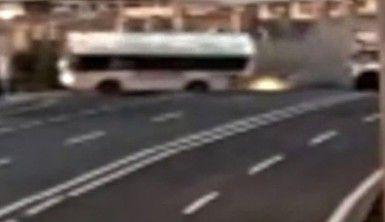 Azerbaycan'da 5 kişinin öldüğü kazanın görüntüsü ortaya çıktı