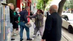 Sokak ortasında kadına uygulanan şiddet güvenlik kameralarına yansıdı