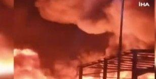 Mısır'da kimya fabrikasında büyük yangın