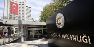 Dışişleri: Türkiye'ye karşı sorumlulukların göz ardı edildiği bir Türkiye Raporu yayımlanmıştır