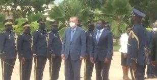 Cumhurbaşkanı Erdoğan, Togo'da resmi tören ile karşılandı