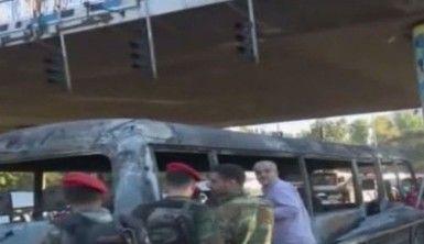 Şam'da askeri personeli taşıyan otobüsün geçişi sırasında patlama