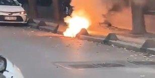 Bakırköy'de yer altı kabloları alev alev yandı